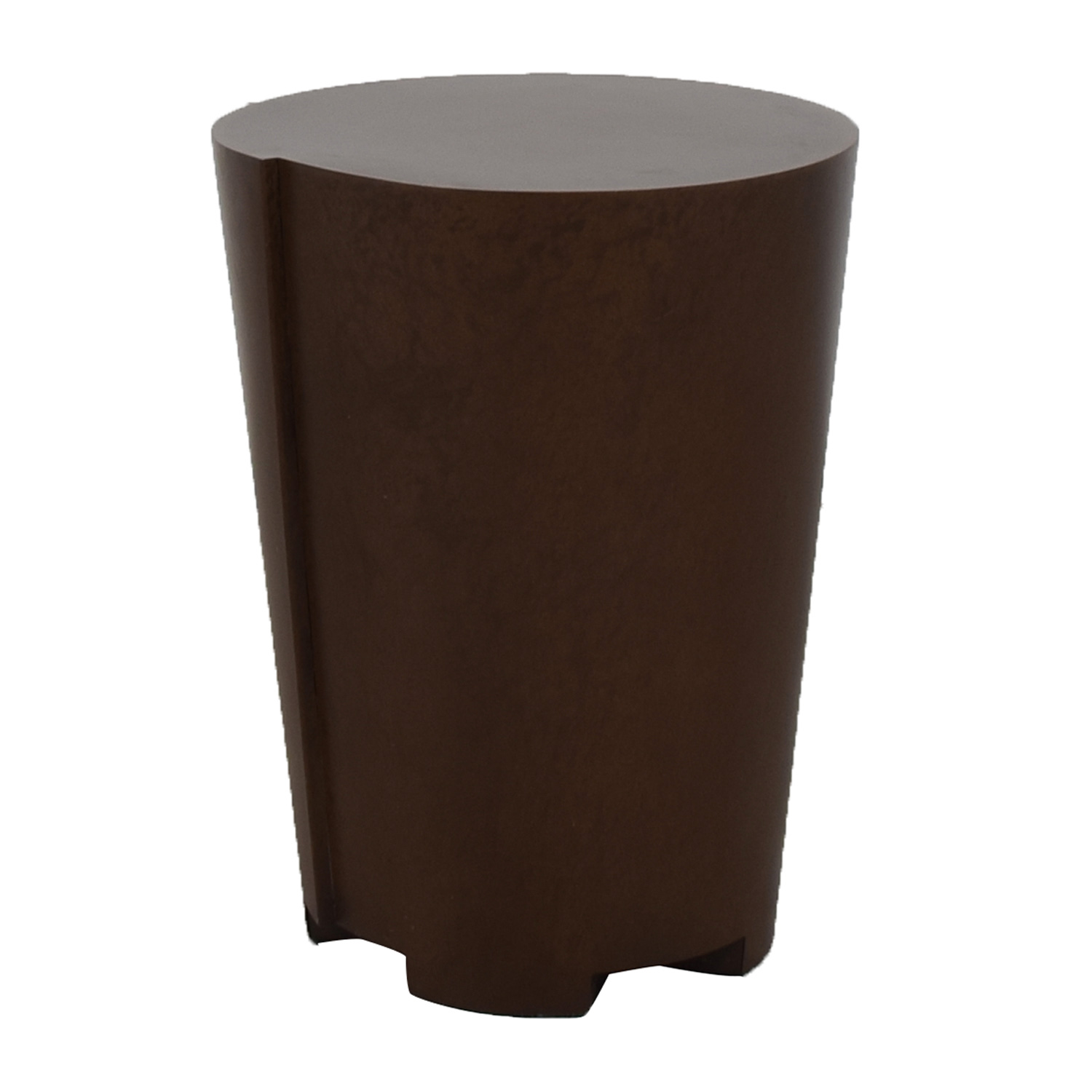 buy Crate & Barrel Bronze Drum Table Crate & Barrel Tables