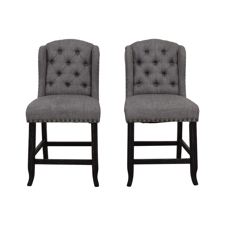 buy Furniture of America Grey Tufted Counter Stools Furniture of America Chairs