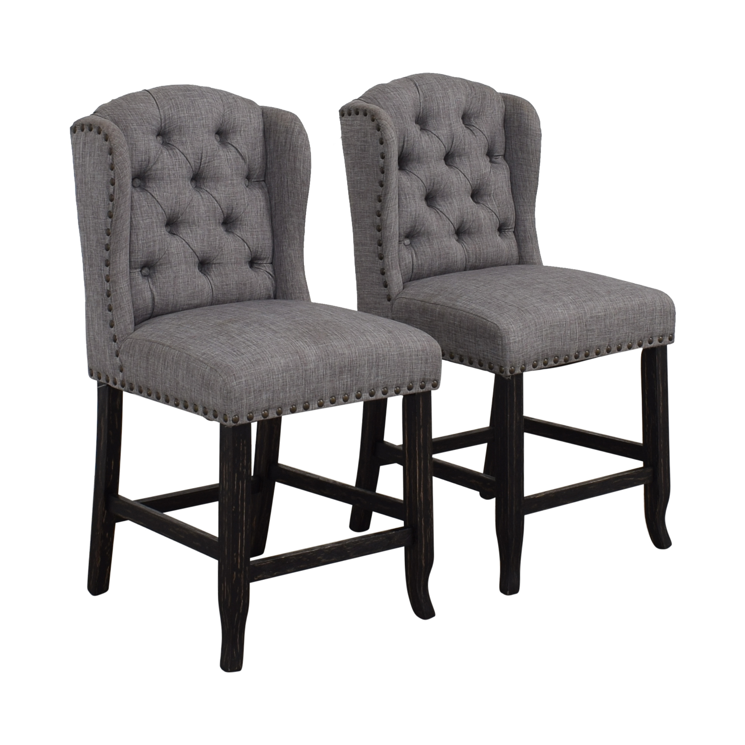Furniture of America Furniture of America Grey Tufted Counter Stools Chairs