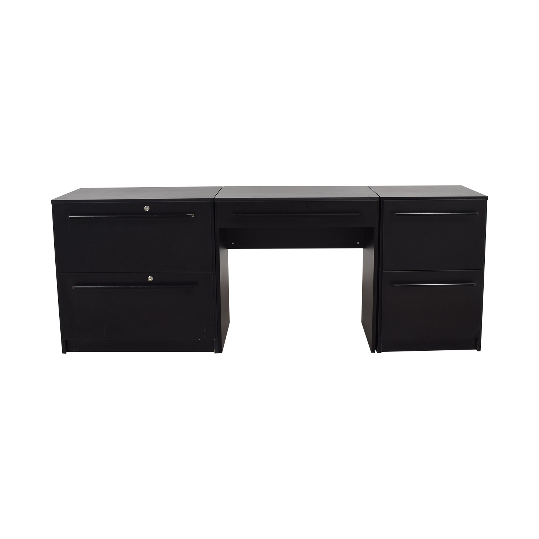 Workbench Workbench Modular Black Desk used