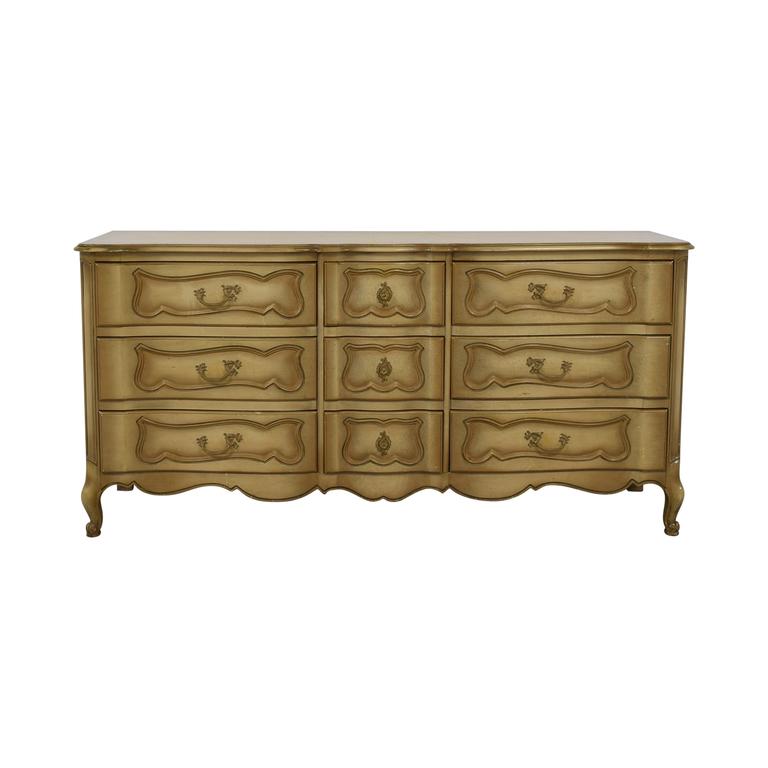 John Cameron Furniture Beige Carved Wood None-Drawer Dresser sale