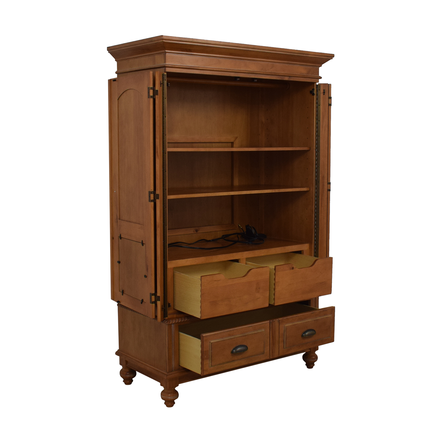 A.R.T. Furniture Four-Drawer Wood Wardrobe Armoire sale