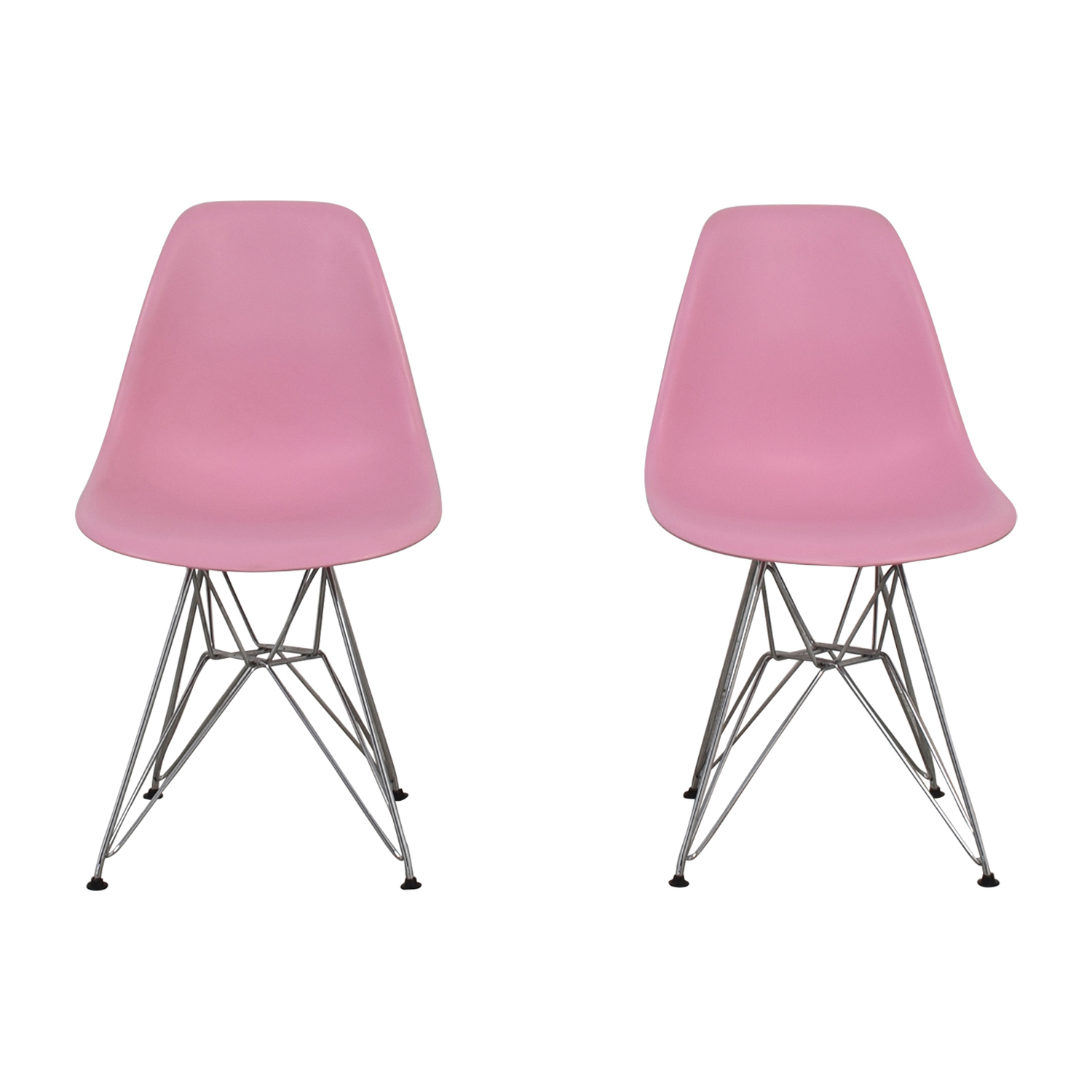 Mid-Century Light Pink Chairs / Accent Chairs