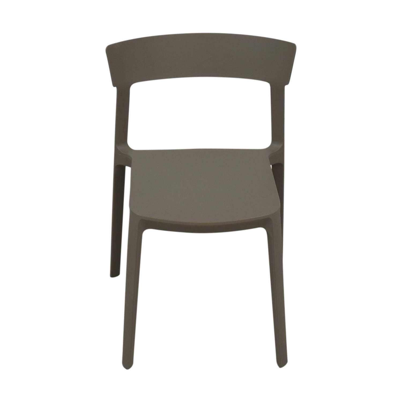 Calligaris Calligaris Grey Skin Stacking Chair used