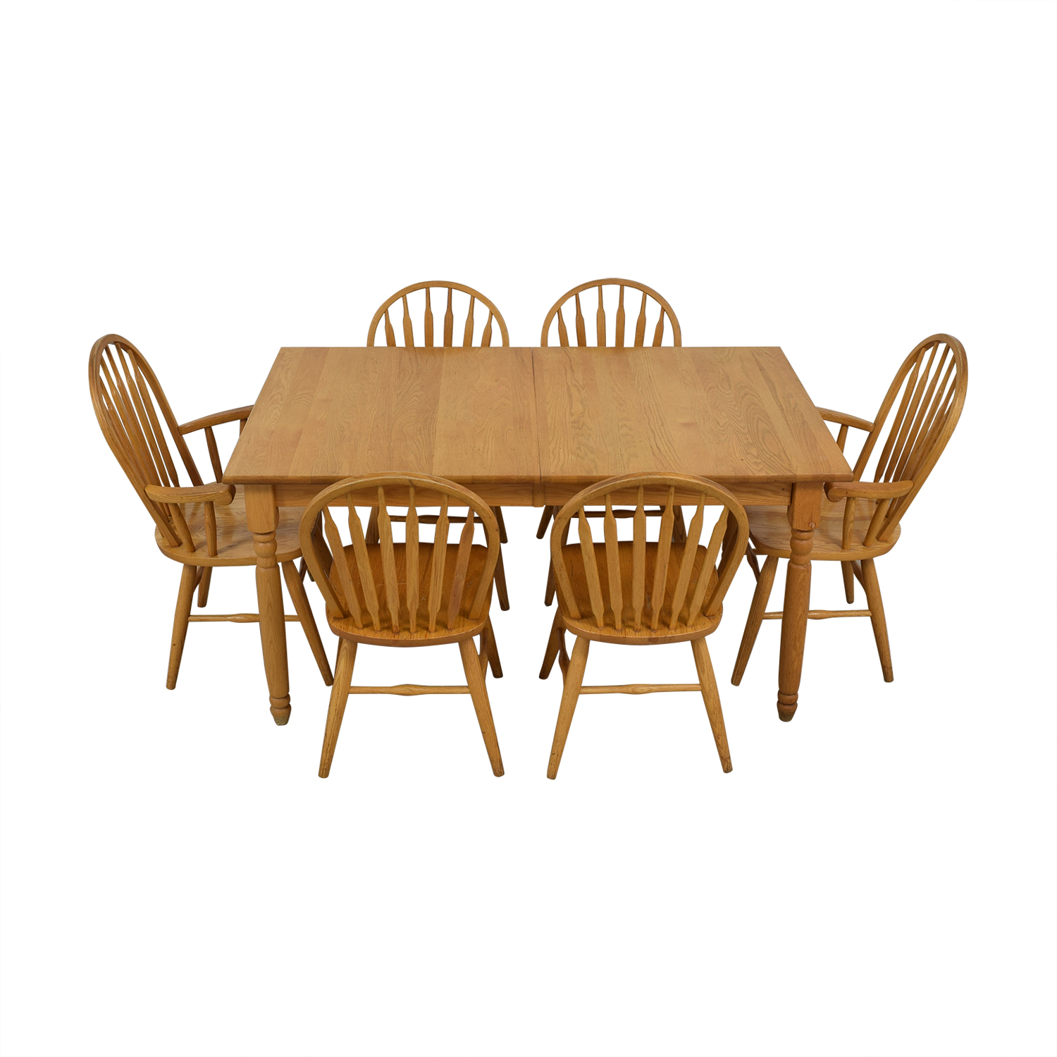 Dinaire Dinaire Extendable Oak Farm Dining Set beige