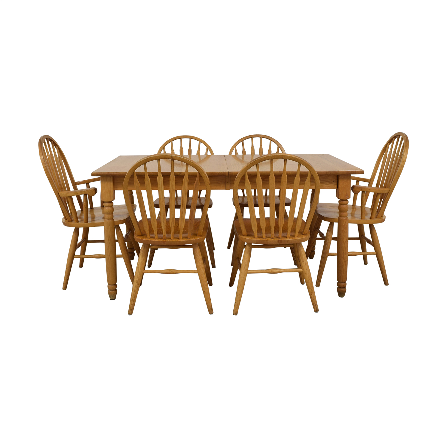 Dinaire Dinaire Extendable Oak Farm Dining Set coupon