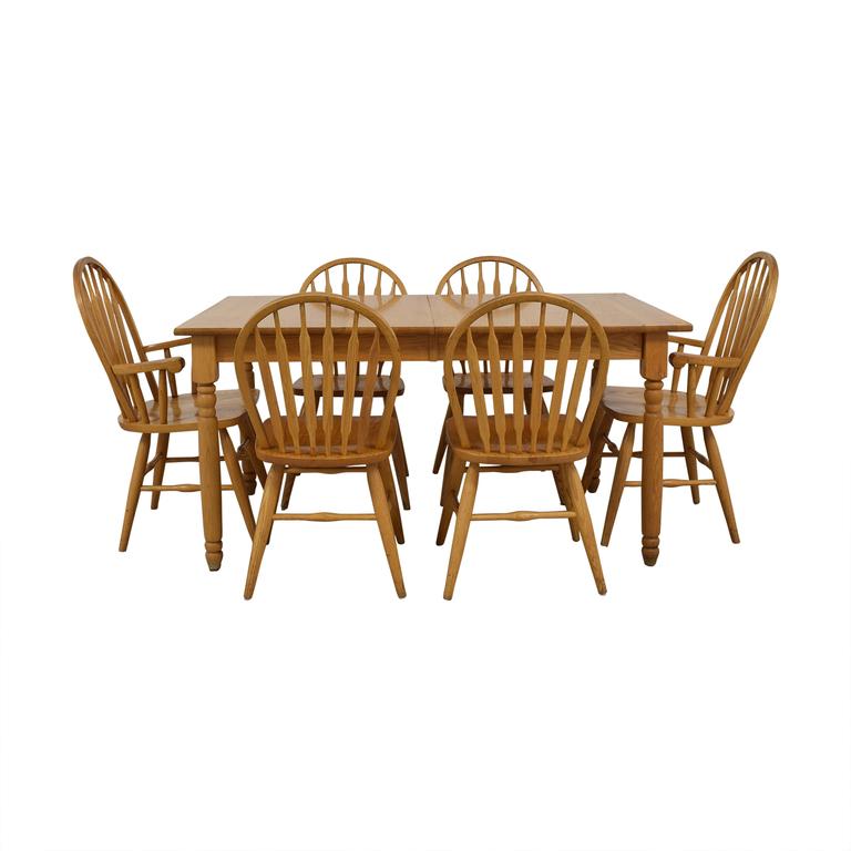Dinaire Dinaire Extendable Oak Farm Dining Set second hand