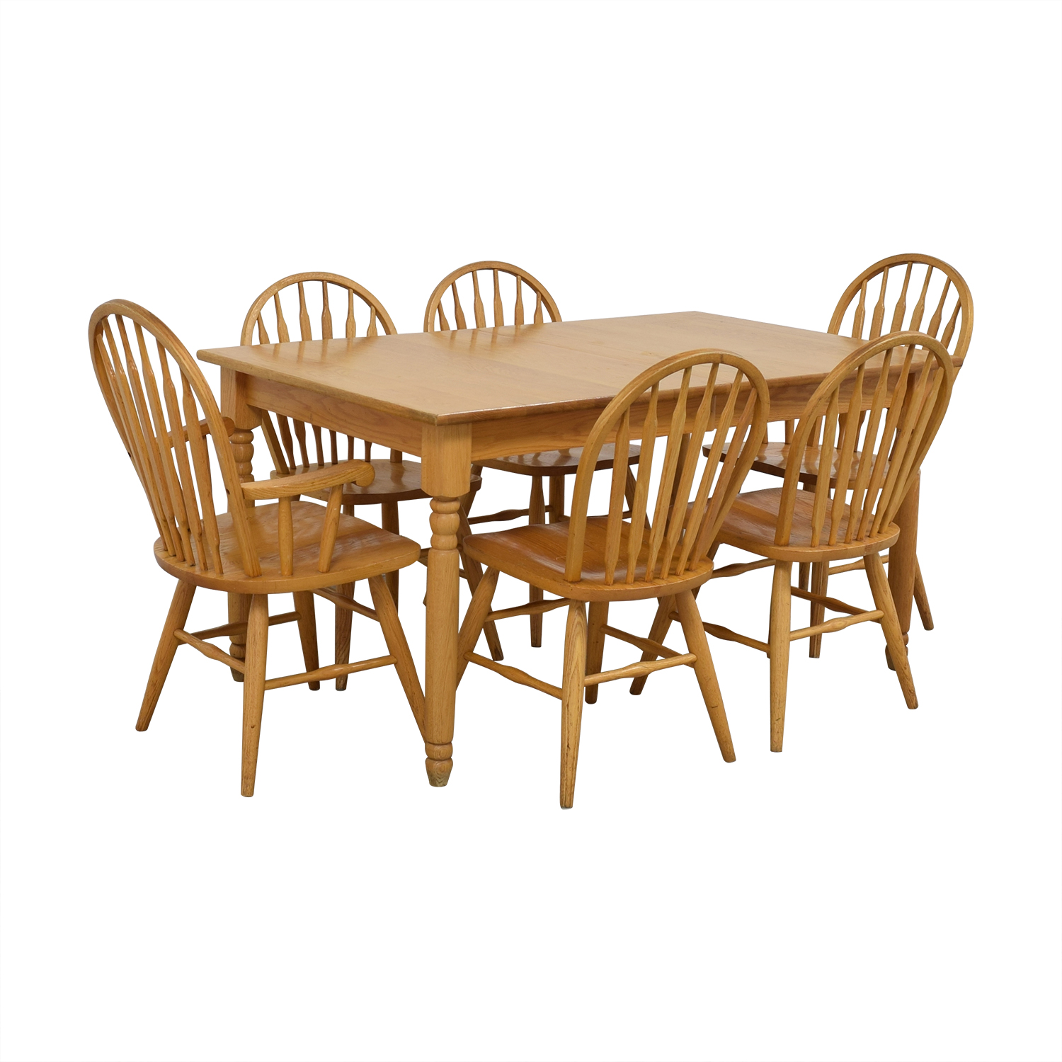 shop Dinaire Extendable Oak Farm Dining Set Dinaire
