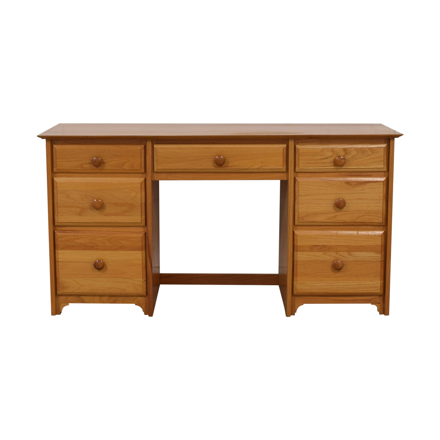 Seven-Drawer Wood Desk price