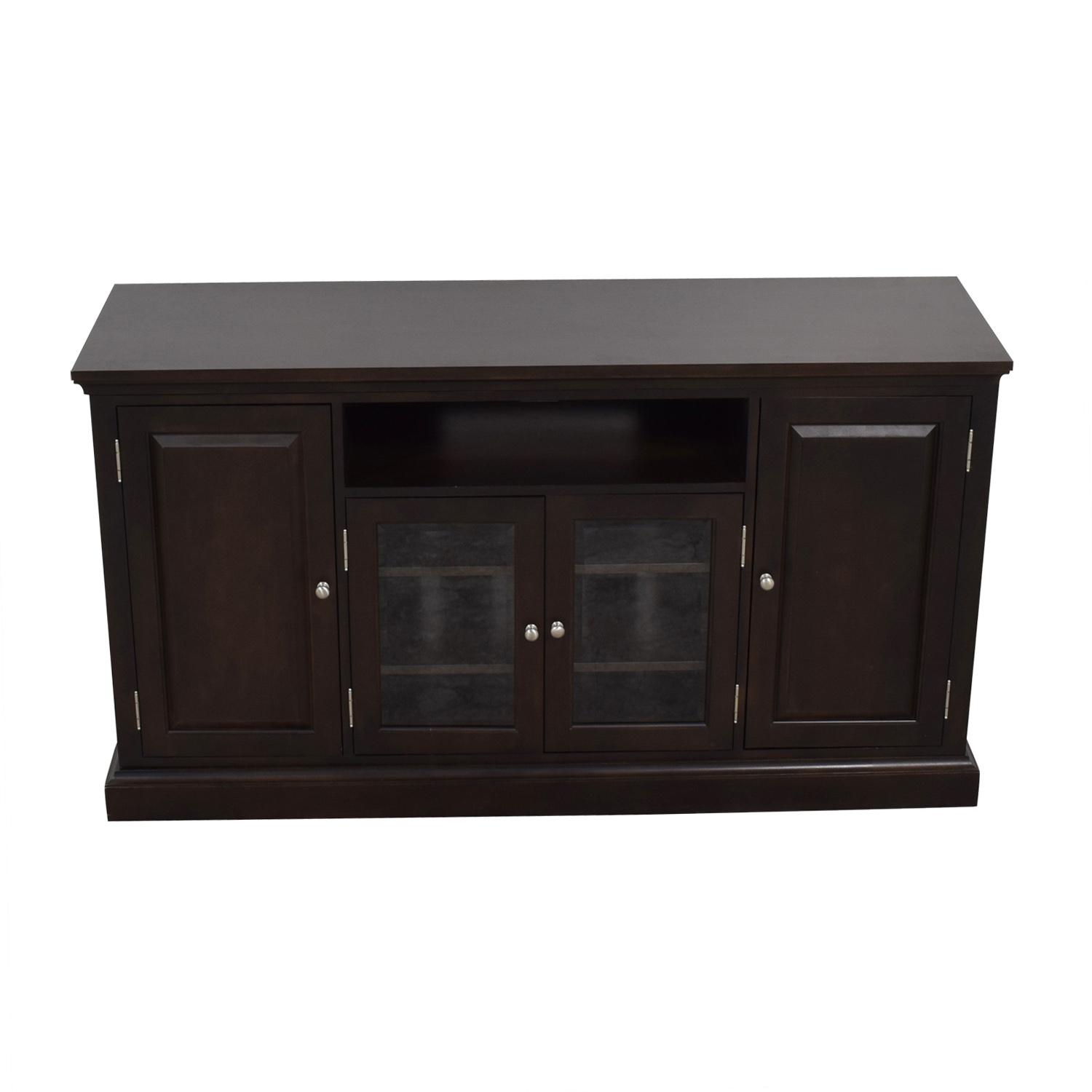 Ethan Allen Ethan Allen Wood and Glass Media Cabinet