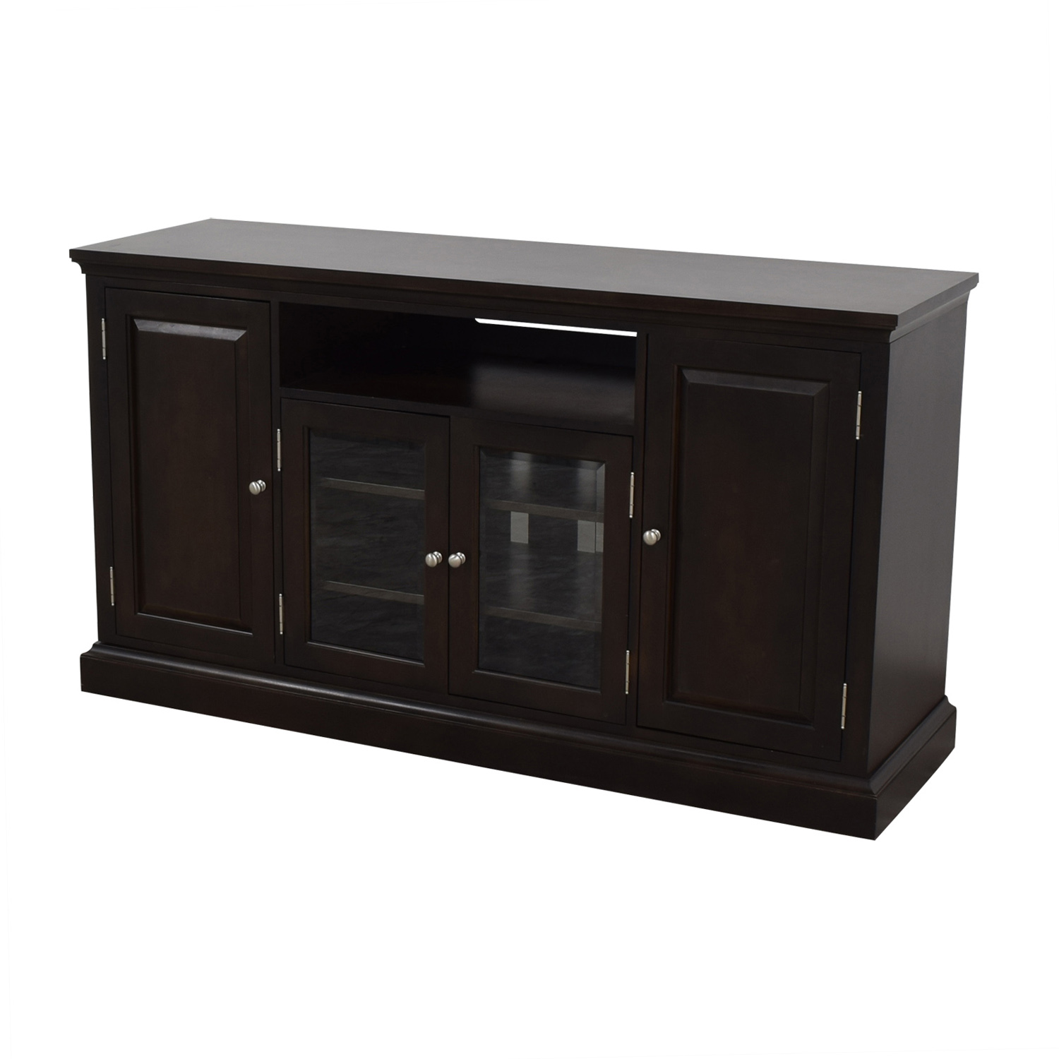 Ethan Allen Ethan Allen Wood and Glass Media Cabinet for sale