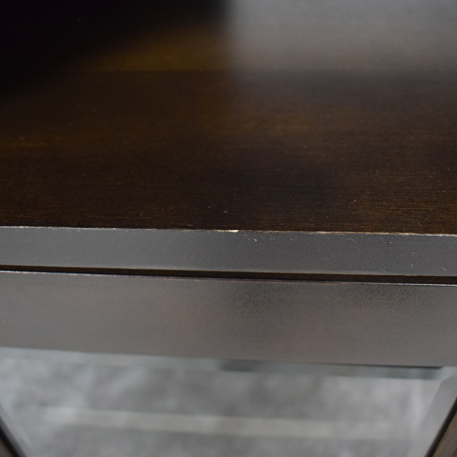 Ethan Allen Wood and Glass Media Cabinet / Media Units