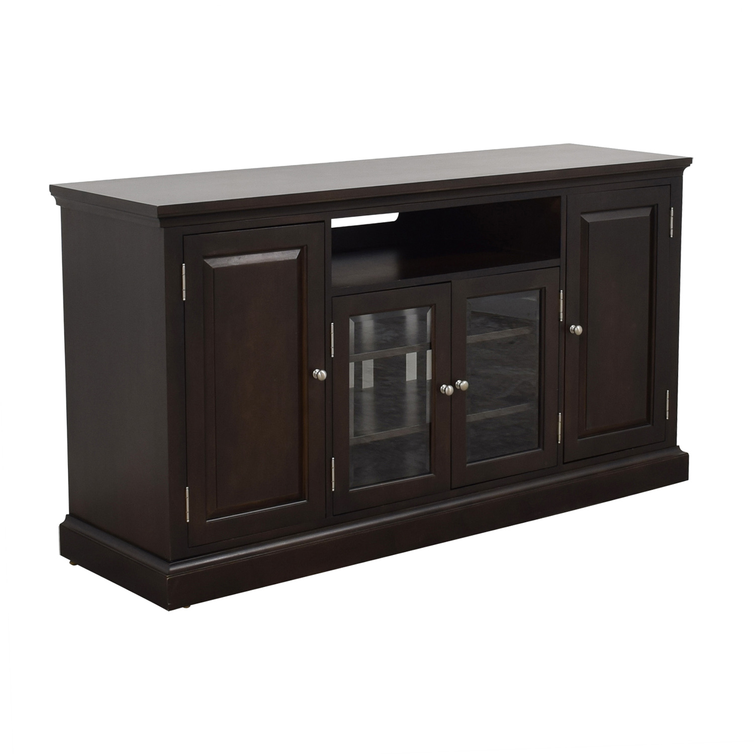 Ethan Allen Ethan Allen Wood and Glass Media Cabinet used