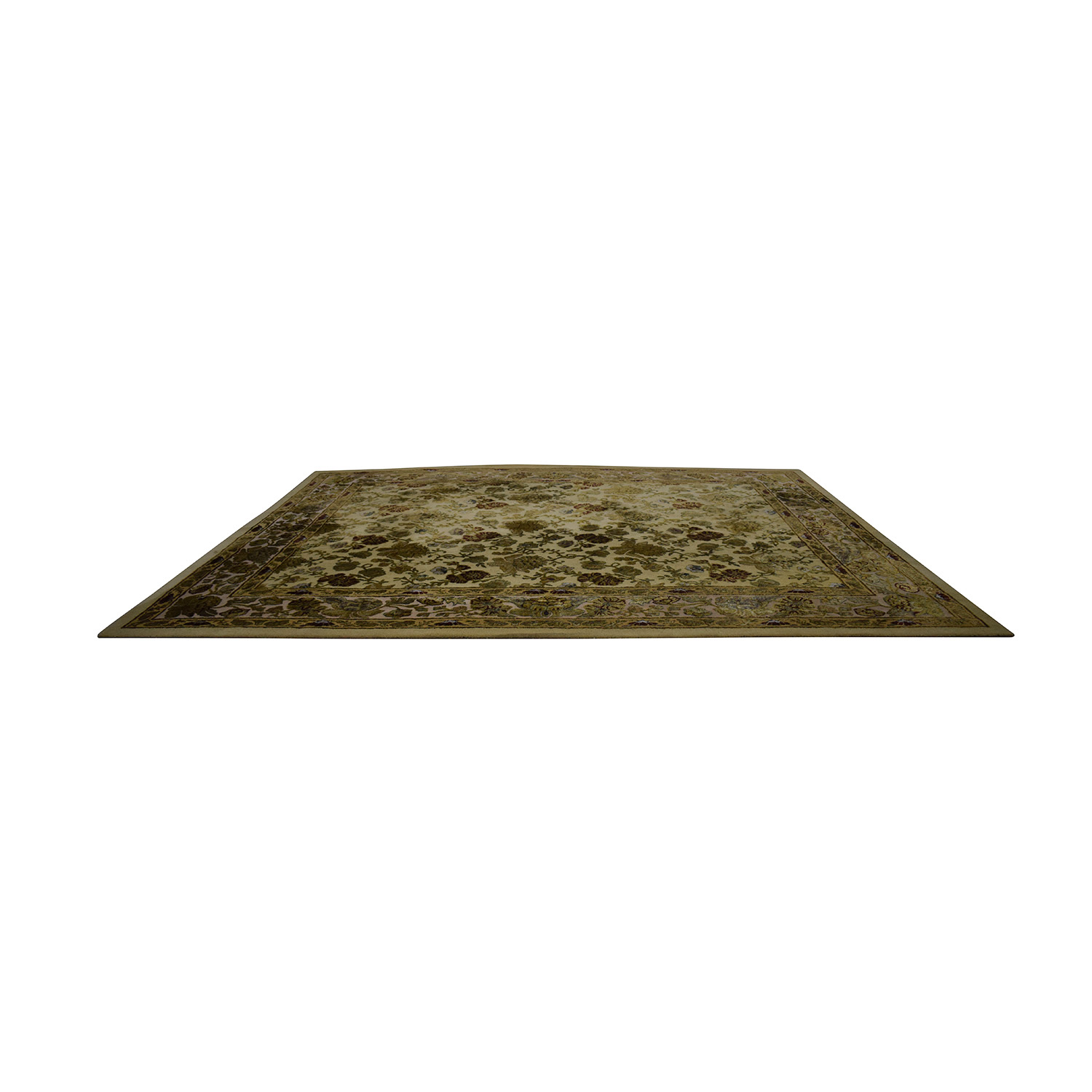 buy Ethan Allen Gold and Green Leaf Oriental Rug Ethan Allen Decor