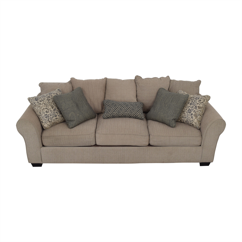 Ashley Furniture Ashley Furniture Beige Three-Cushion Sofa Classic Sofas