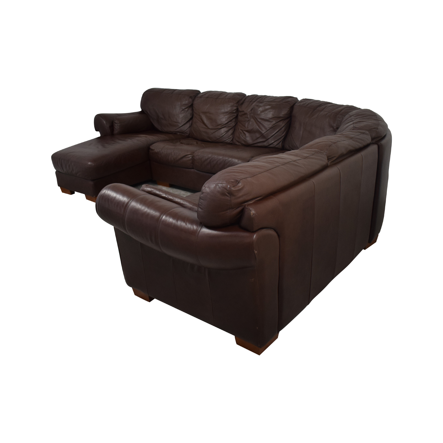 Chateaux D Ax Divani.89 Off Chateau D Ax Chateau D Ax Divani Brown Leather L Sectional Couch With Chaise Sofas