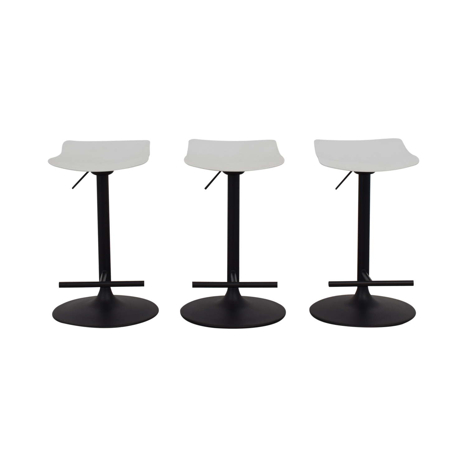 BoConcept BoConcept White and Black Bar Stools used