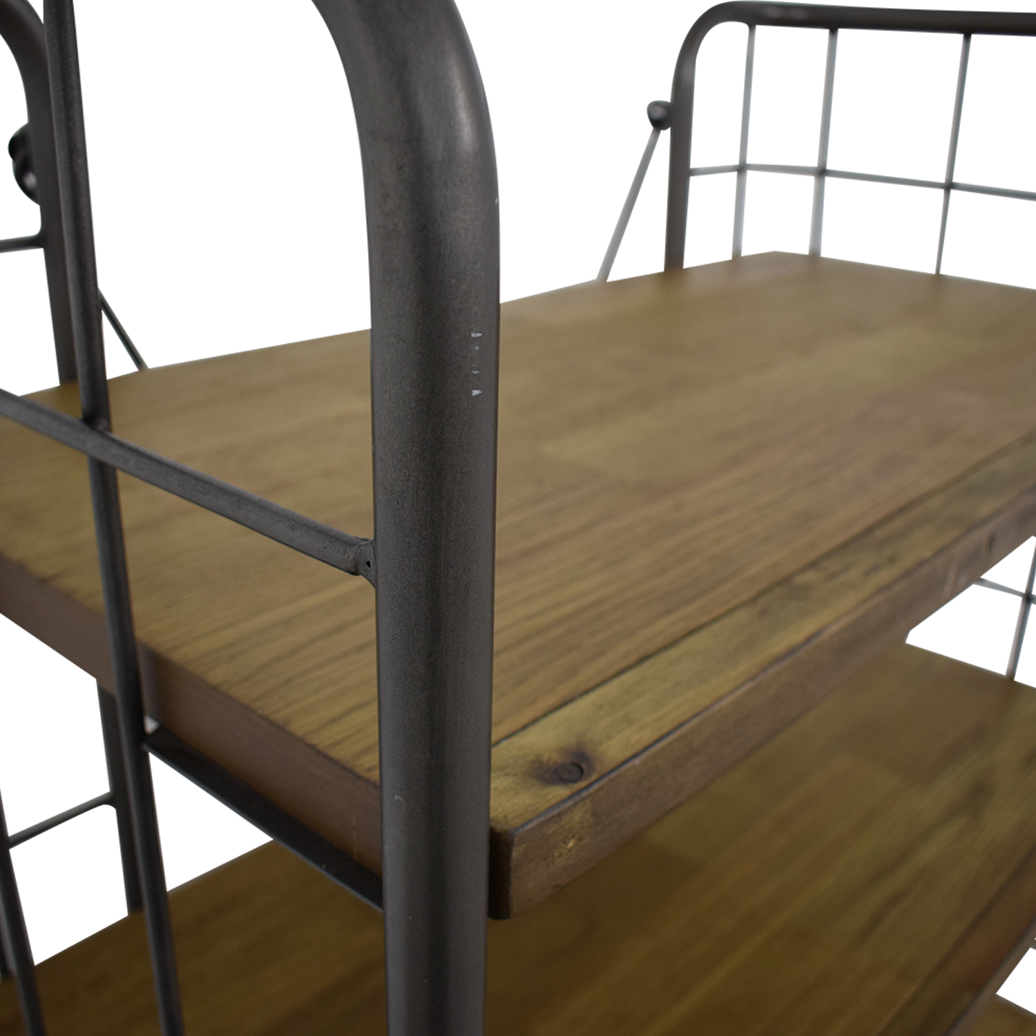 World Market Industrial Four-Tier Shelves with Casters sale