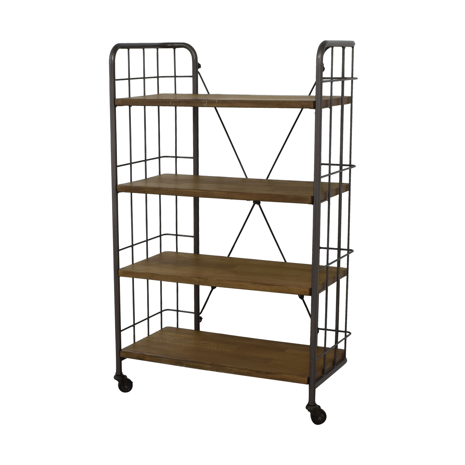 World Market World Market Industrial Four-Tier Shelves with Casters on sale
