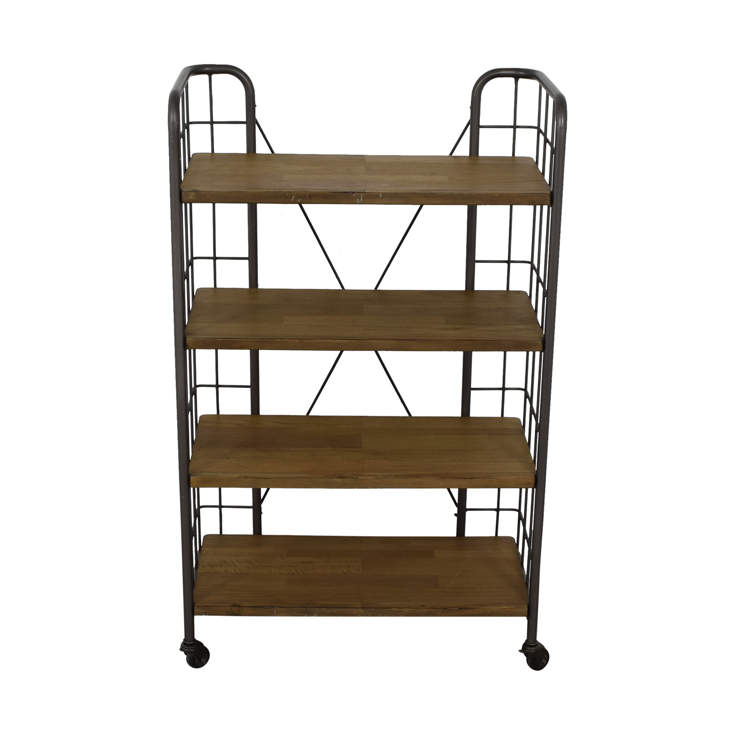 World Market World Market Industrial Four-Tier Shelves with Casters used