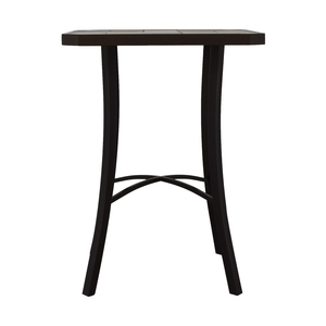 High-Top Ceramic Tile Table used