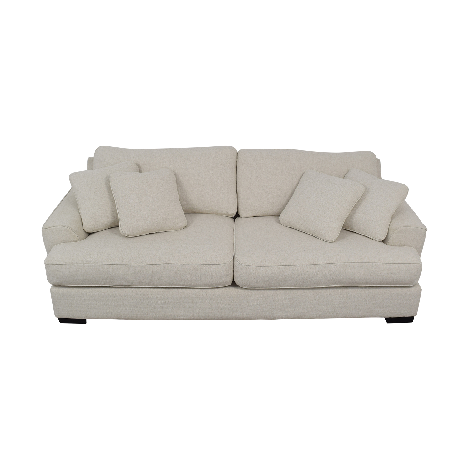 Macy's Ainsley White Two-Cushion Sofa Macy's