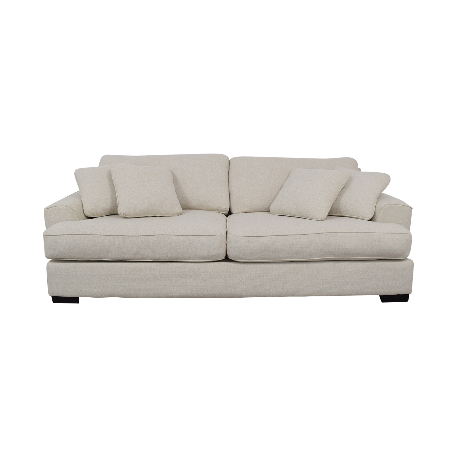 Macy's Macy's Ainsley White Two-Cushion Sofa second hand