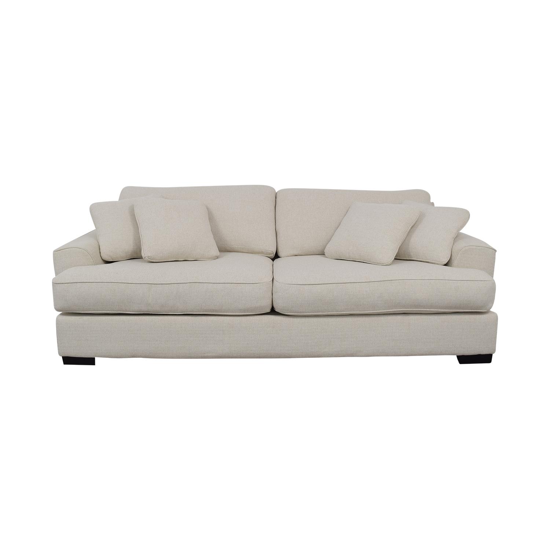 shop Macy's Ainsley White Two-Cushion Sofa Macy's Classic Sofas