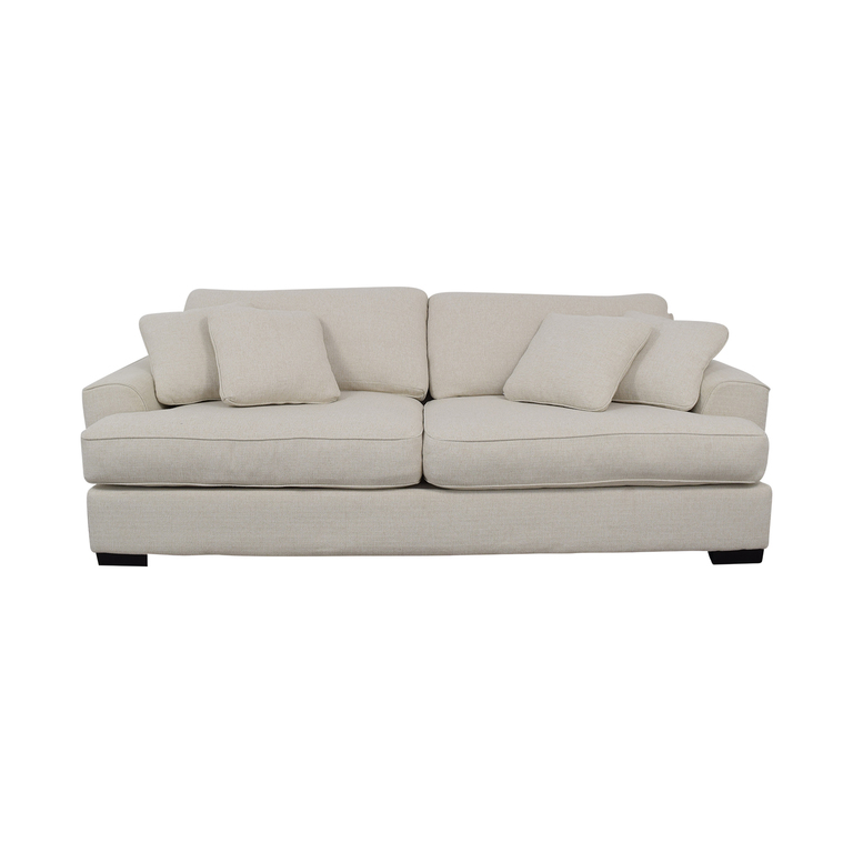 Macy's Macy's Ainsley White Two-Cushion Sofa nj