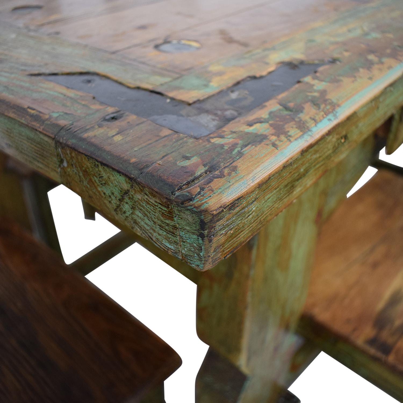 buy El Barzon El Barzon Southwest Rustic Recycled Wood Dining Set online