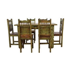 El Barzon Southwest Rustic Recycled Wood Dining Set sale
