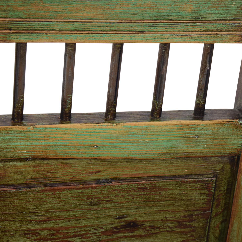 El Barzon El Barzon Southwest Rustic Recycled Wood Dining Set discount