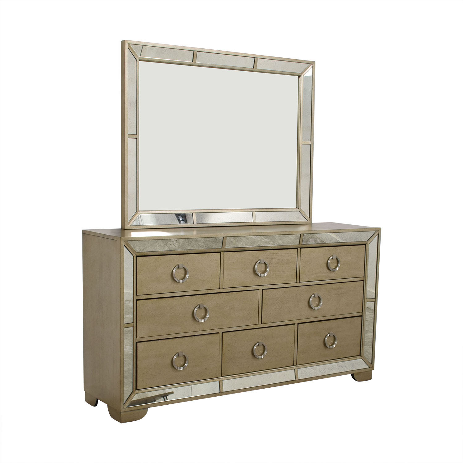 Macy's Ailey Eight-Drawer Dresser with Mirror and Trim sale