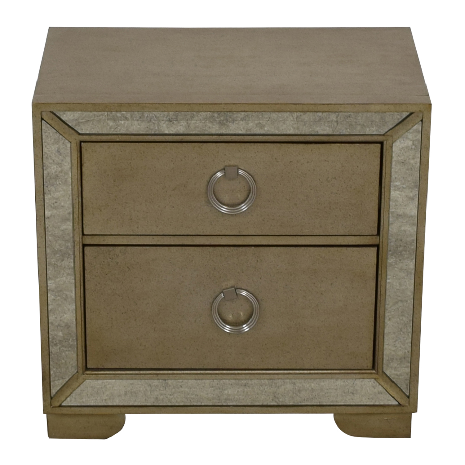 Macy's Macy's Mirror Trimmed Two-Drawer Nightstand End Tables