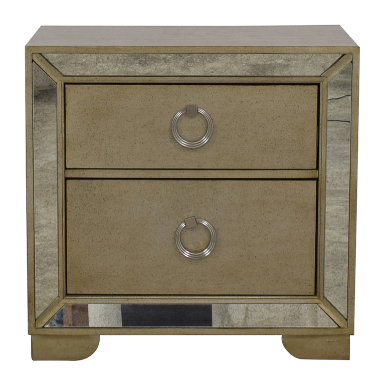 buy Macy's Mirror Trimmed Two-Drawer Nightstand Macy's