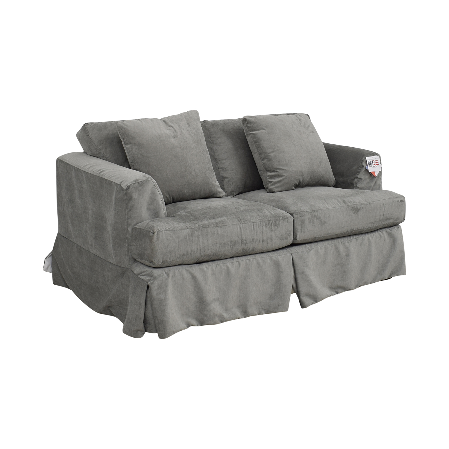 Wayfair Grey Upholstered Two-Cushion Loveseat sale