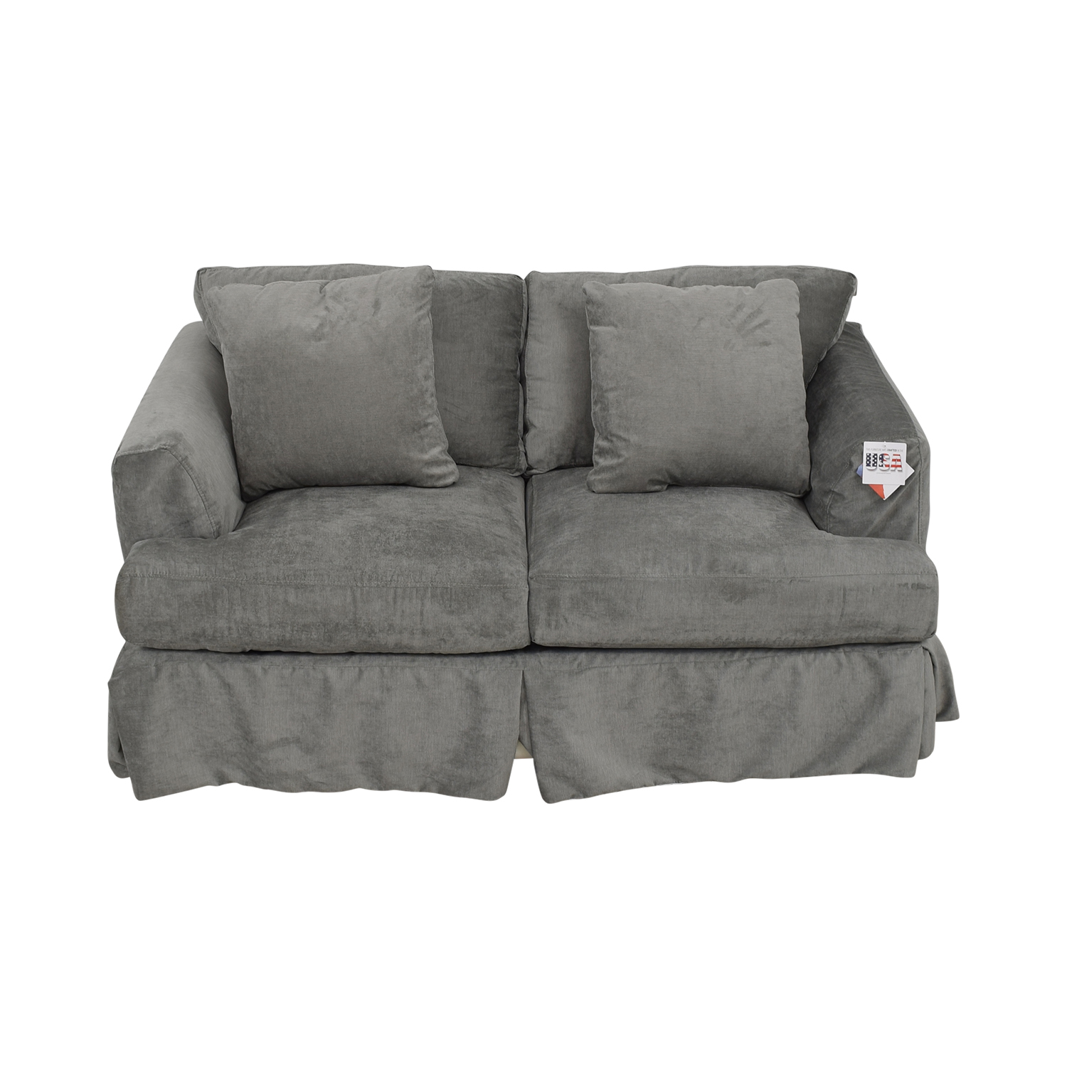 Wayfair Grey Upholstered Two-Cushion Loveseat Wayfair