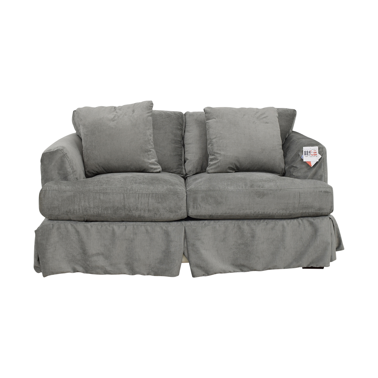 shop Wayfair Grey Upholstered Two-Cushion Loveseat Wayfair Loveseats