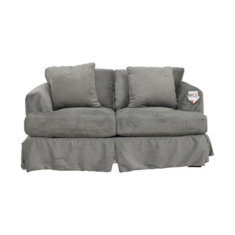 Wayfair Wayfair Grey Upholstered Two-Cushion Loveseat dimensions