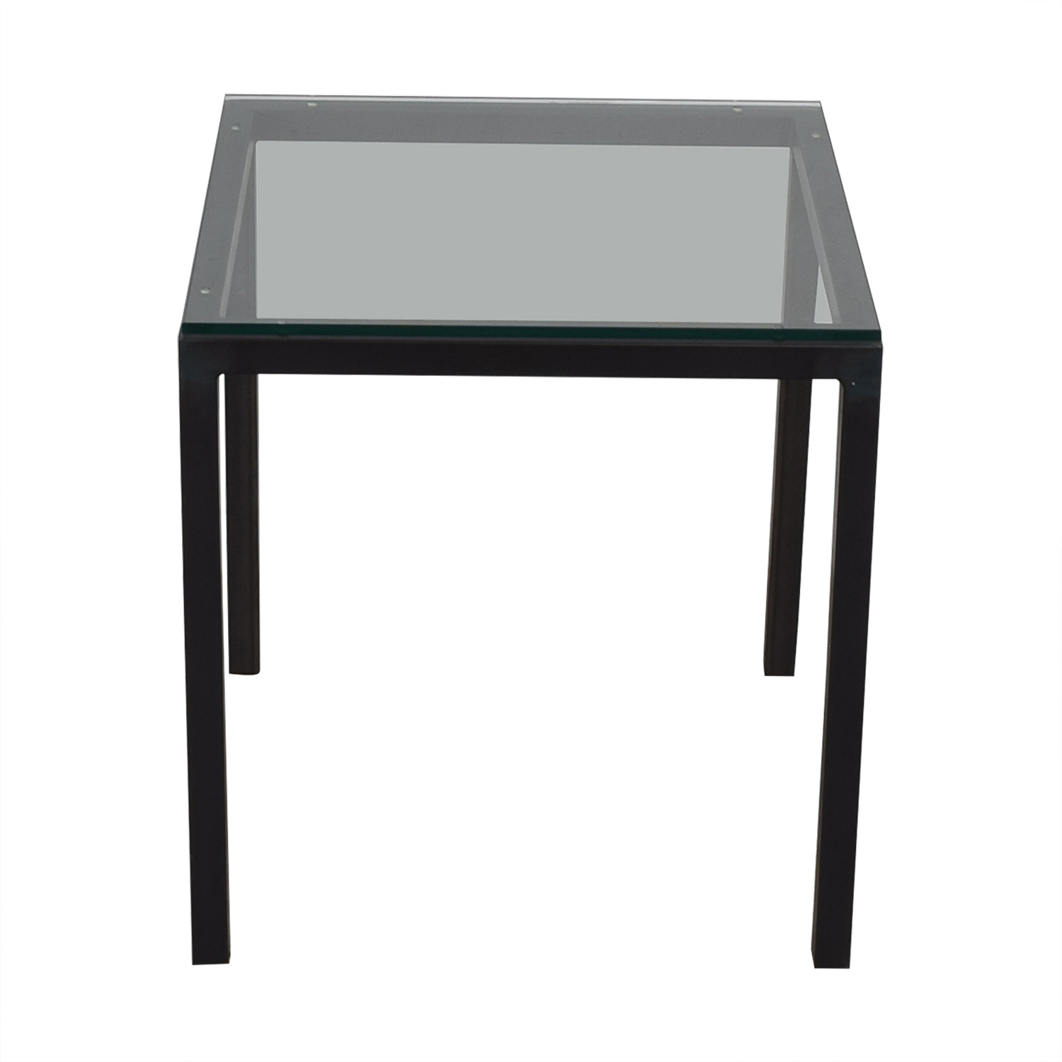 Room & Board Room & Board Parsons Glass and Black End Table Sofas