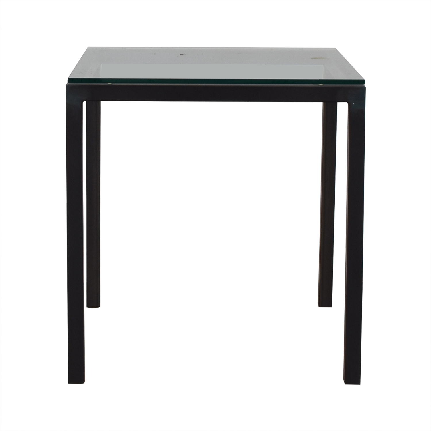 Room & Board Room & Board Parsons Glass and Black End Table used