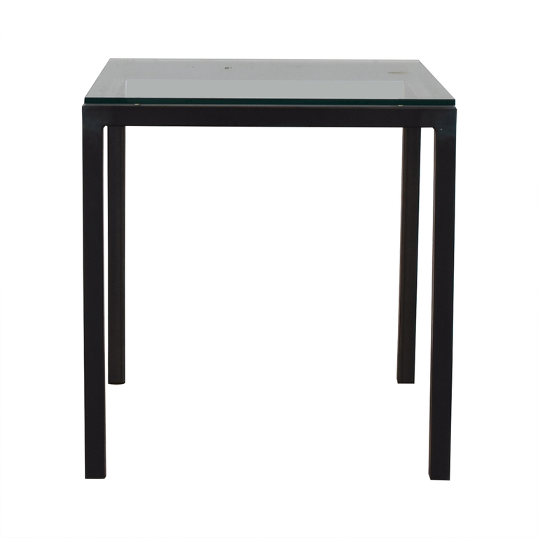 Room & Board Room & Board Parsons Glass and Black End Table nj