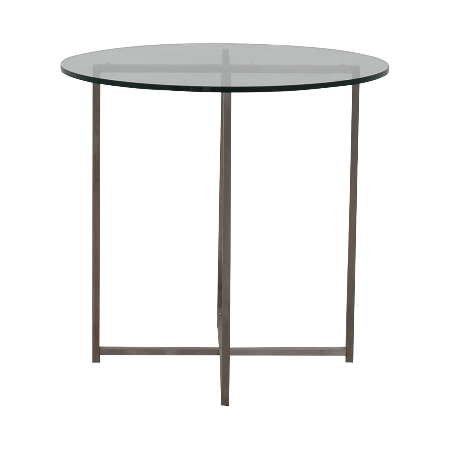 buy Room & Board Room & Board Stainless Steel and Glass Classic End Table online