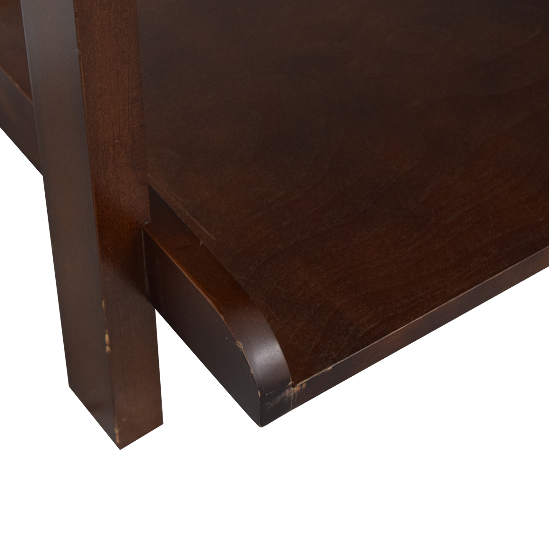 Wood Leaning Bookshelf second hand