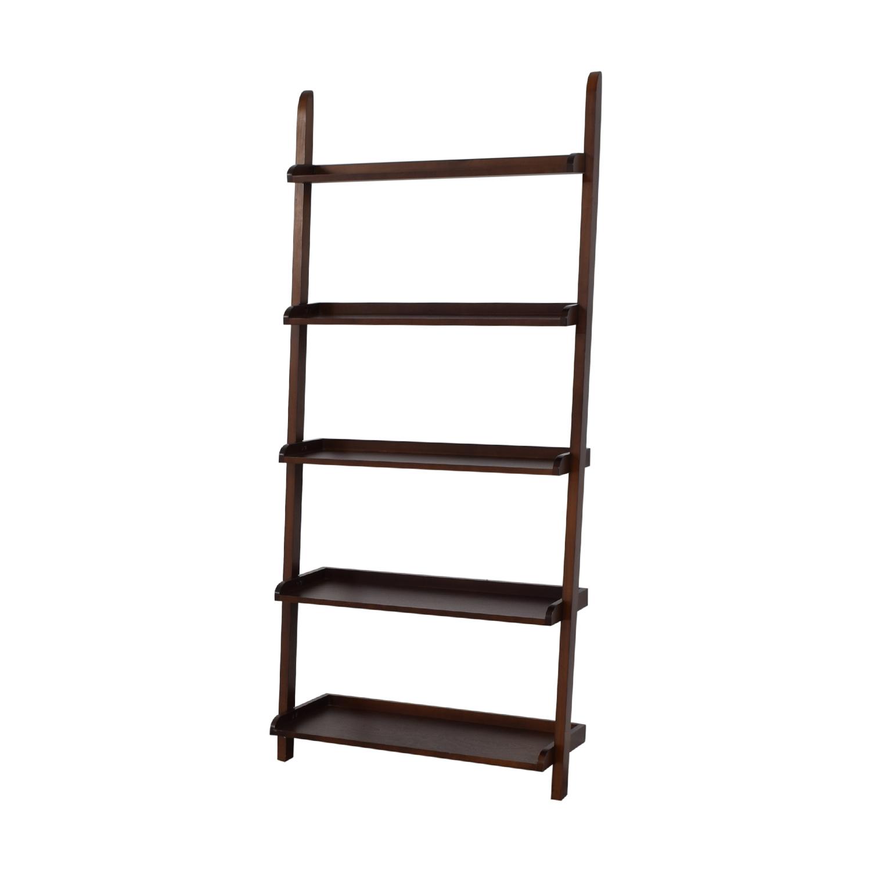 Wood Leaning Bookshelf