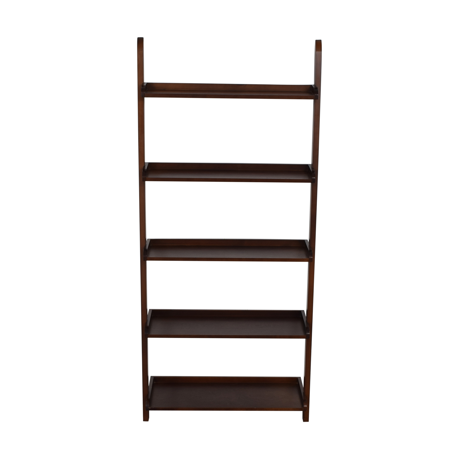 Wood Leaning Bookshelf brown