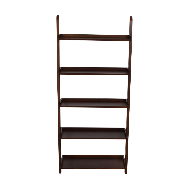 Wood Leaning Bookshelf price