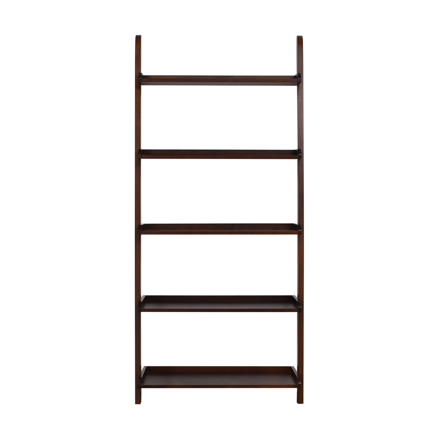 Wood Leaning Bookshelf discount