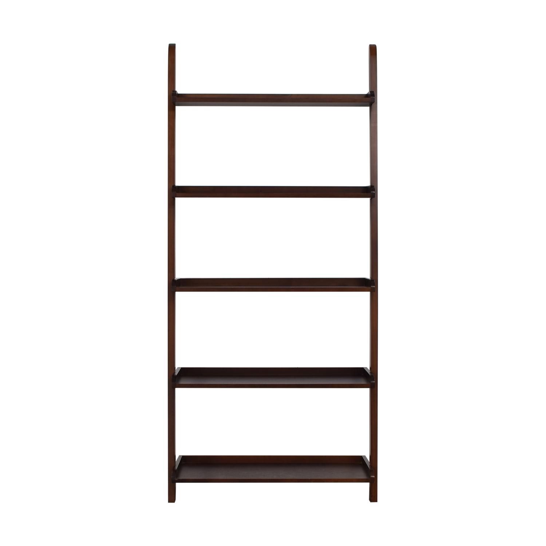 Wood Leaning Bookshelf discount