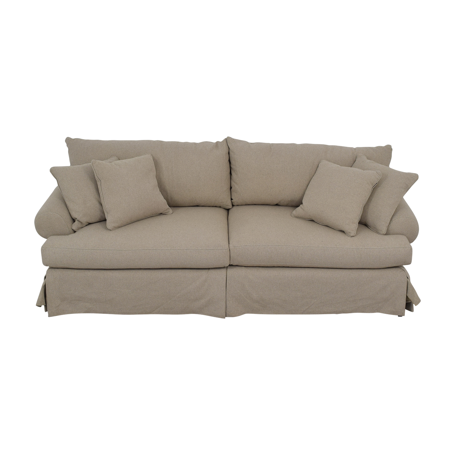 Neiman Marcus Keystone Grey Two-Cushion Sofa / Sofas